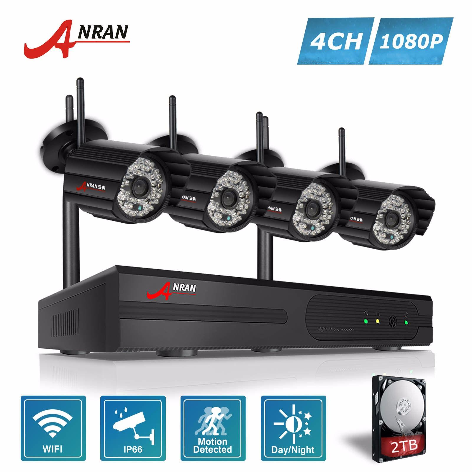 Anran 4Ch 1080P Wifi Nvr Wireless Security Camera System With 4 Outdoor 1080P Night Vision Ip Security Cctv Cameras Reviews
