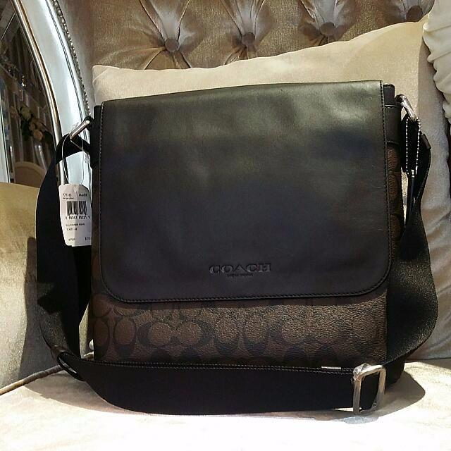 c071ce9ac209 Coach Men F72109 Sullivan Small Messenger In Signature