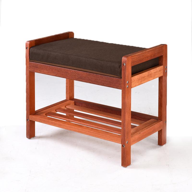 Fashion Mahogany Storage Chair Footstool