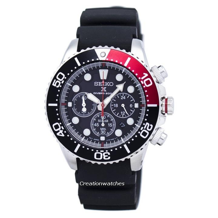 Where To Buy Seiko Prospex Divers Solar Chronograph Men S Black Rubber Strap Watch Ssc617P1