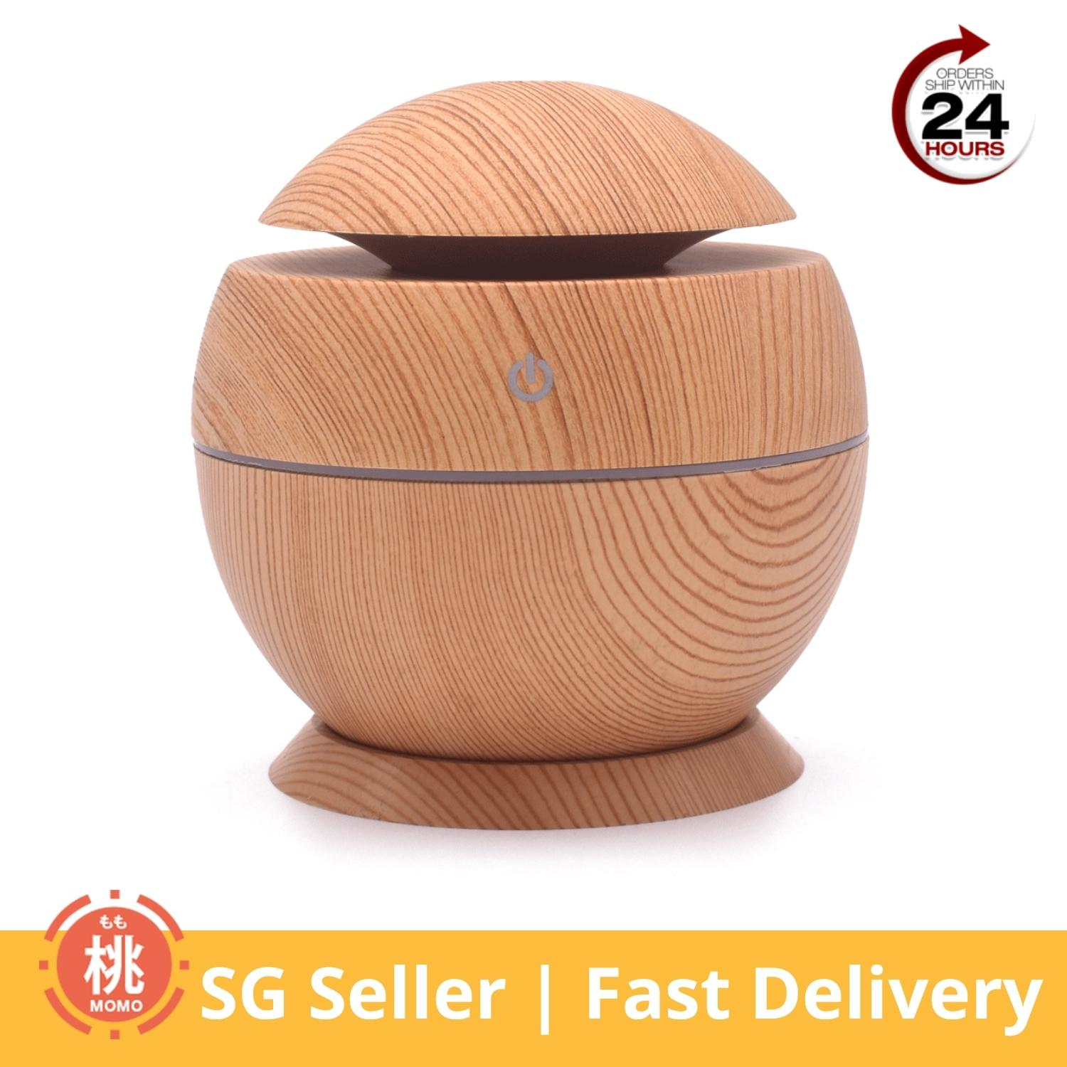 Aroma Therapy Diffuser Fragrance Humidifier, Usb Powered With Led (wood Grain) [office/car/home Usage] By Momo Accessories.