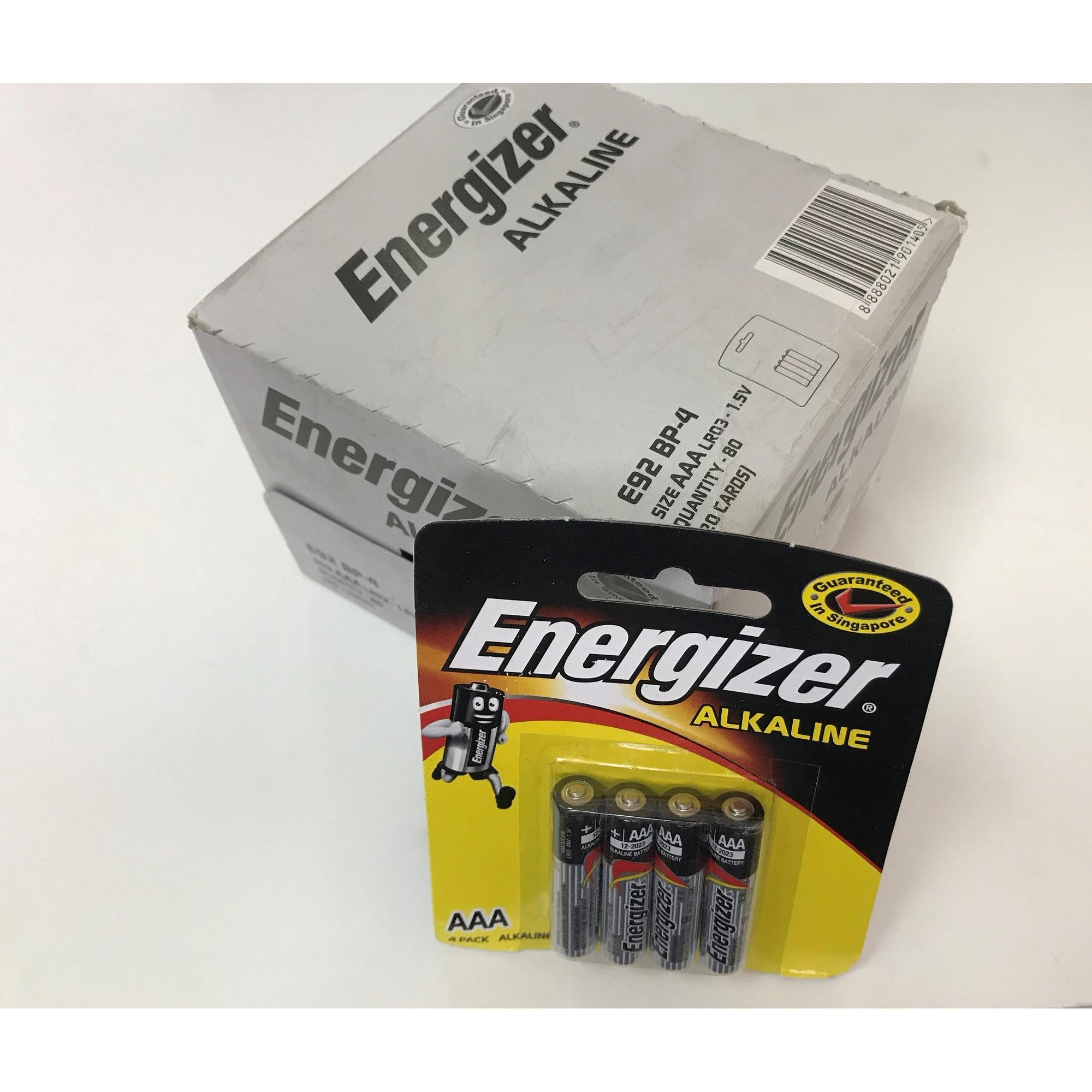 Who Sells Energizer Alkaline 4X Aaa Batteries 20 Packs Total 80 Batteries Lr03 1 5V