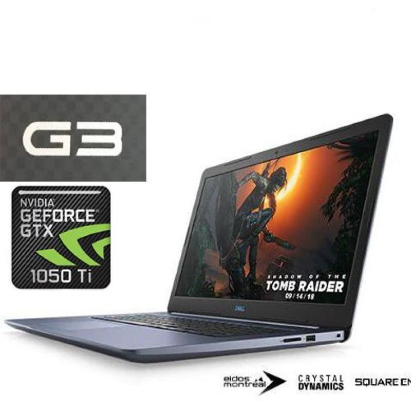 DELL G3 GAMING LAPTOP INTEL CORE I7-8750H / 8GB DDR4 /128GB SSD +1TB HDD / NVIDIA GeFORCE GTX1050TI 4GB /15.6FHD IPS ANTI GLARE LED SCREEN/1 YR DELL WARRANTY