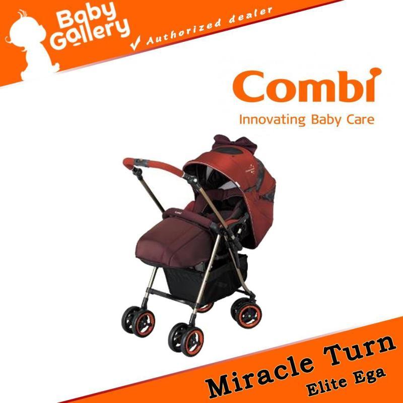 Combi Miracle Turn Elite Ega Orange Stroller Singapore