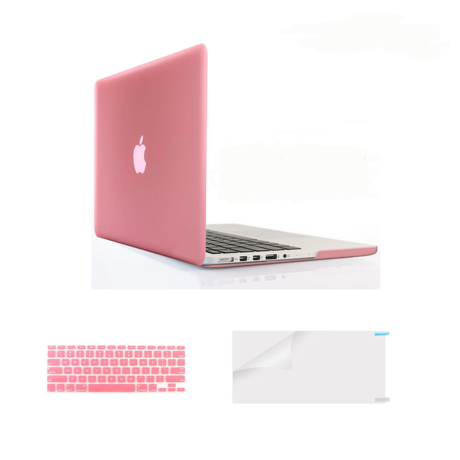 Welink Case Only Compatible MacBook Pro (W/O USB-C) Retina 13 Inch (Models:A1502/A1425)(W/O CD-ROM) Release 2015/2014/2013/end 2012 Plastic Hard Shell & Keyboard Cover & Screen Protector & Anti-dust Plug