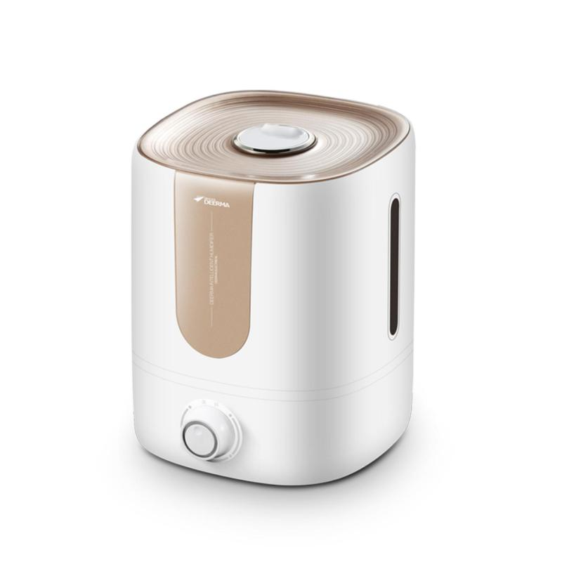 Deerma Ultrasonic Cool Mist Humidifier Mechanical Portable 4L/1.06Gallon Capacity for Living Room, Office, Yoga, Bedroom Powerful Mist Output with Low Noisy (White) - intl Singapore