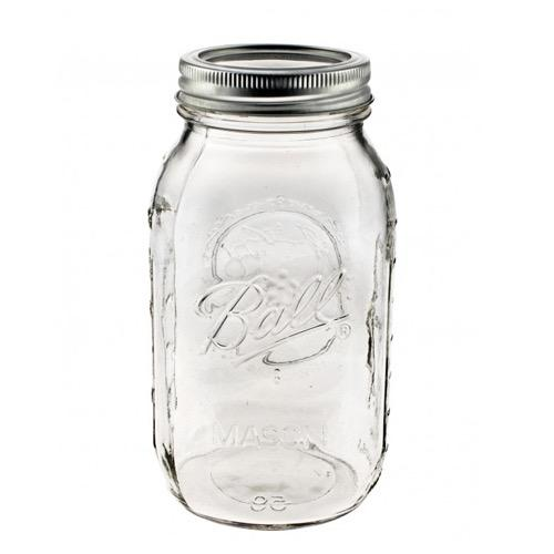 900Ml Clear Ball Mason Jar With Regular Lid Lower Price