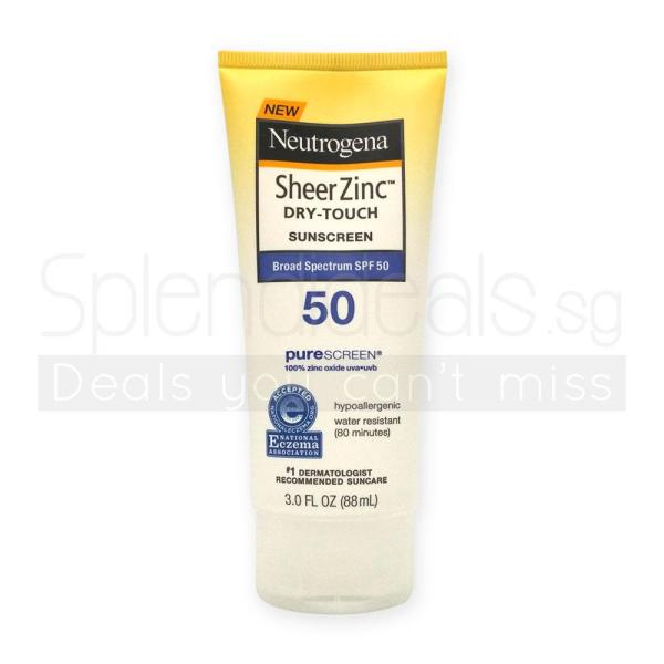 Buy Neutrogena Sunscreen - Sheer Zinc Dry-Touch Broad Spectrum SPF 50 88ml - 0804 Singapore