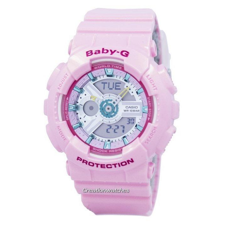 Casio Baby G Analog Digital World Time Women S Pink Resin Strap Watch Ba 110Ca 4A Coupon