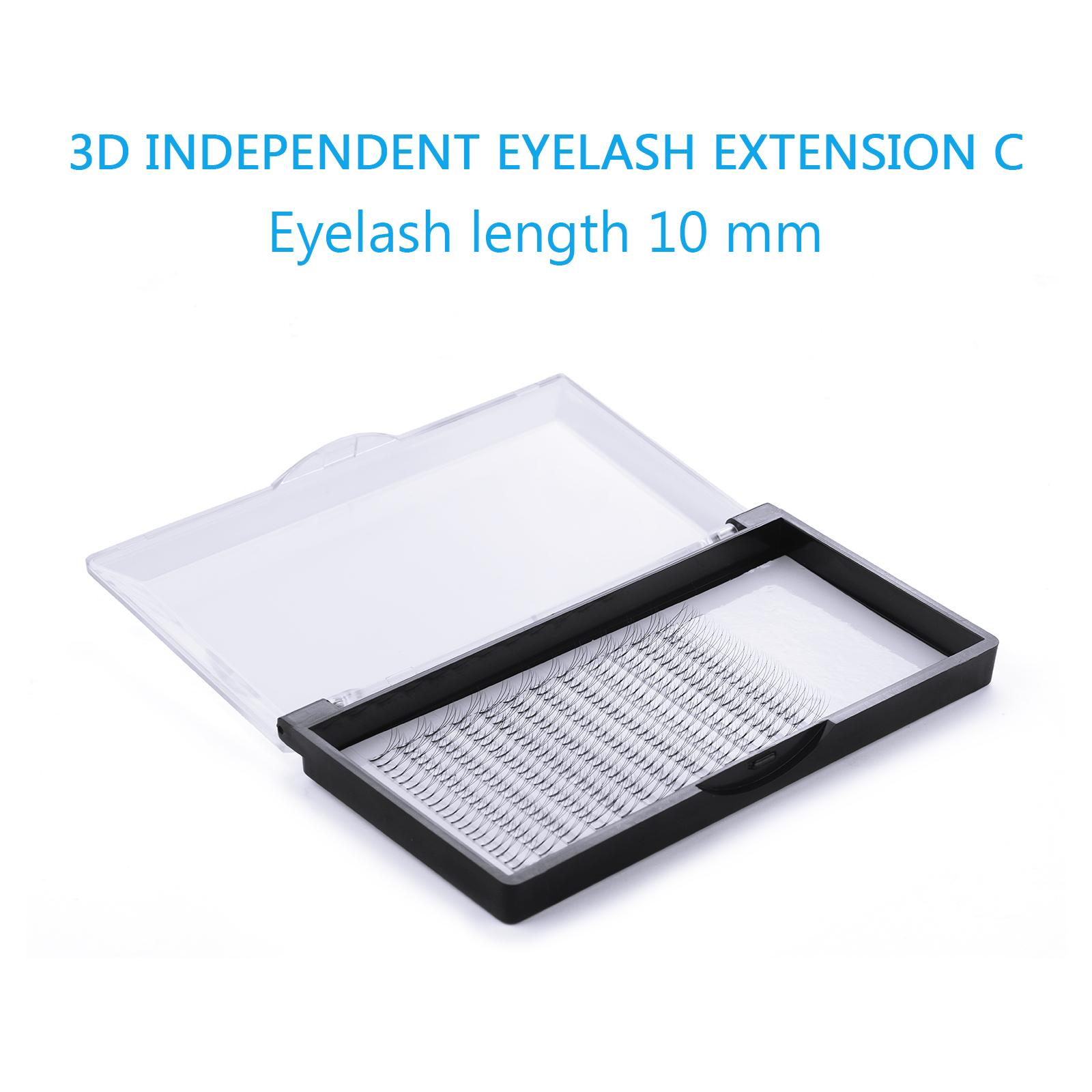 10mm Curl 3d Black Individual False Eyelashes Extension Eye By Wripples.