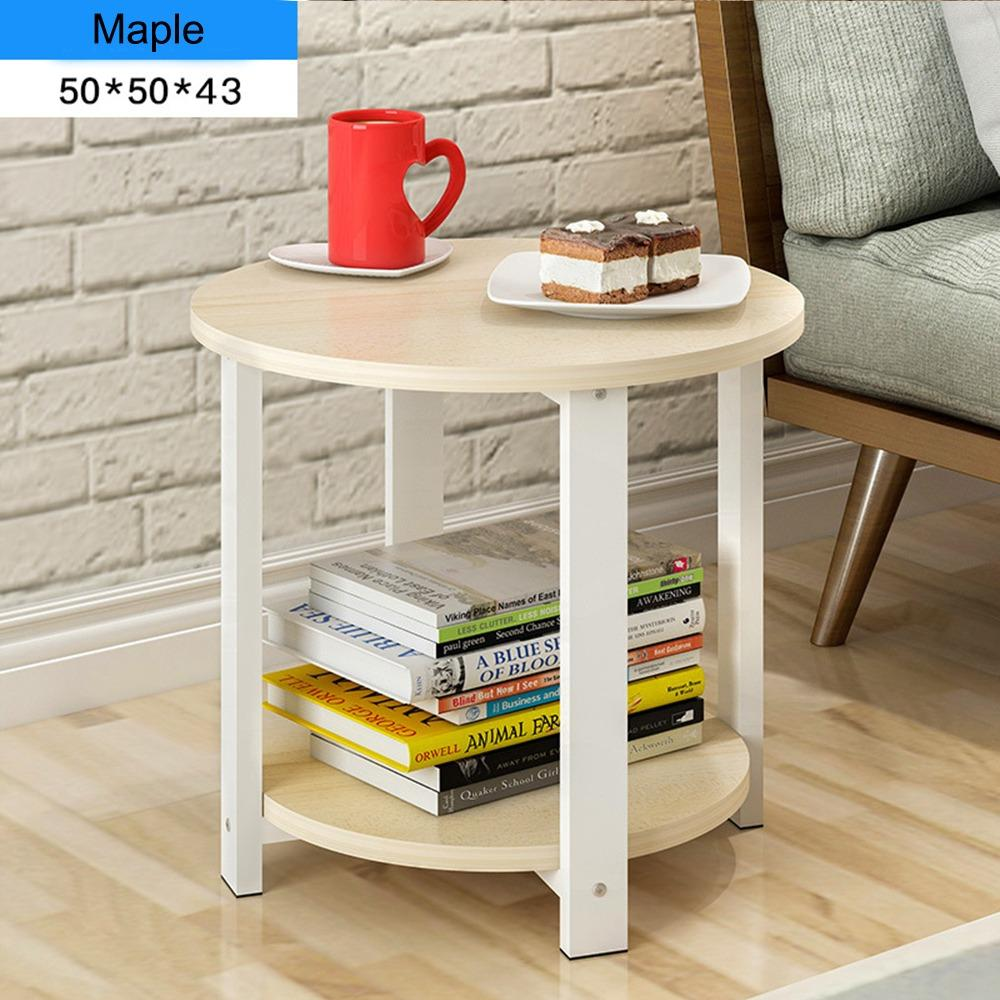 JIJI (Free Installation) Rattan Side Coffee Table 50Cm (Coffee Table) Living Room Storage Coffee Table/ Furniture/ Free 12 Months Local Warranty (SG)