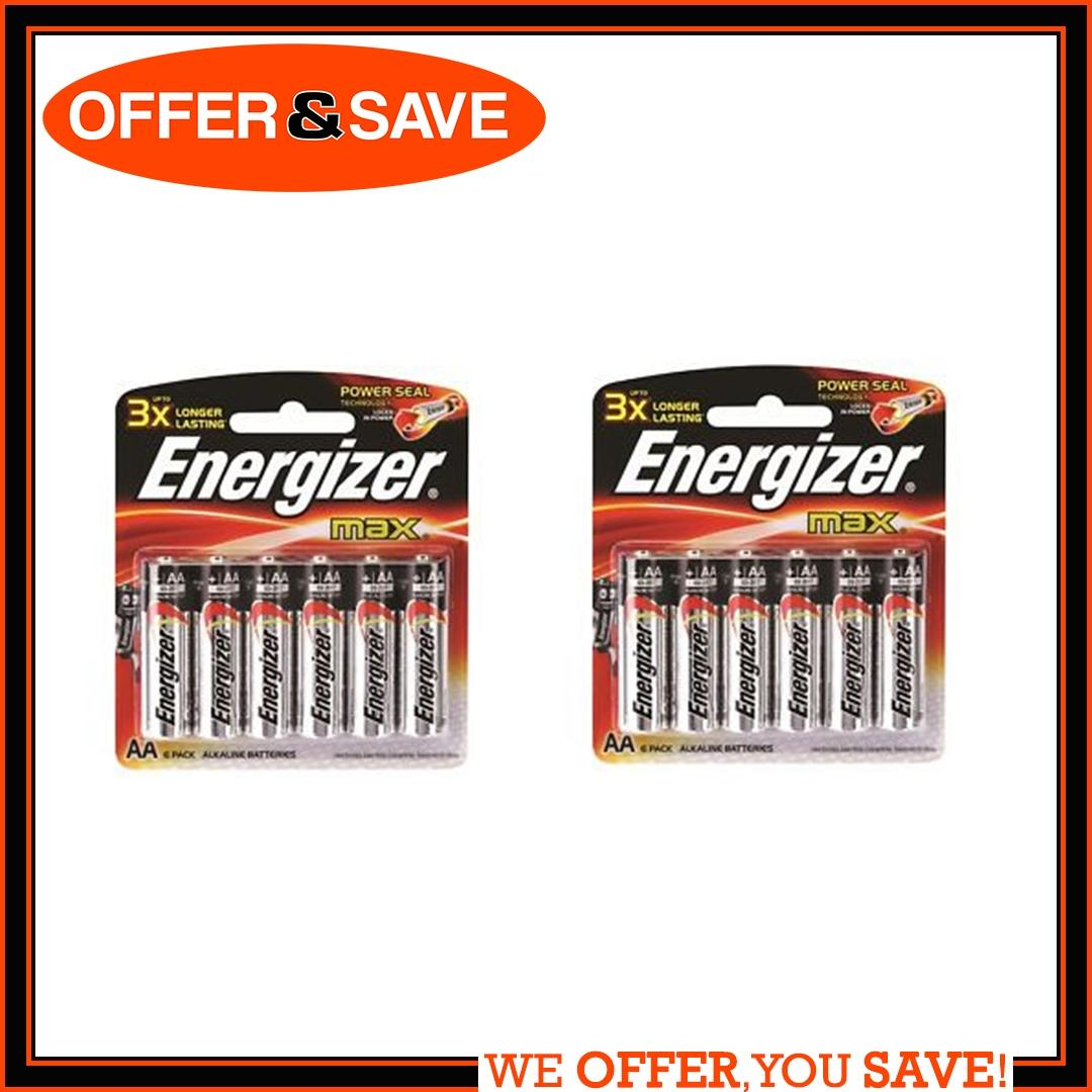 Bundle Of 2 Energizer Aa Alkaline Battery Value Pack Power Products Accessories 3 Pin Plug Wiring Te