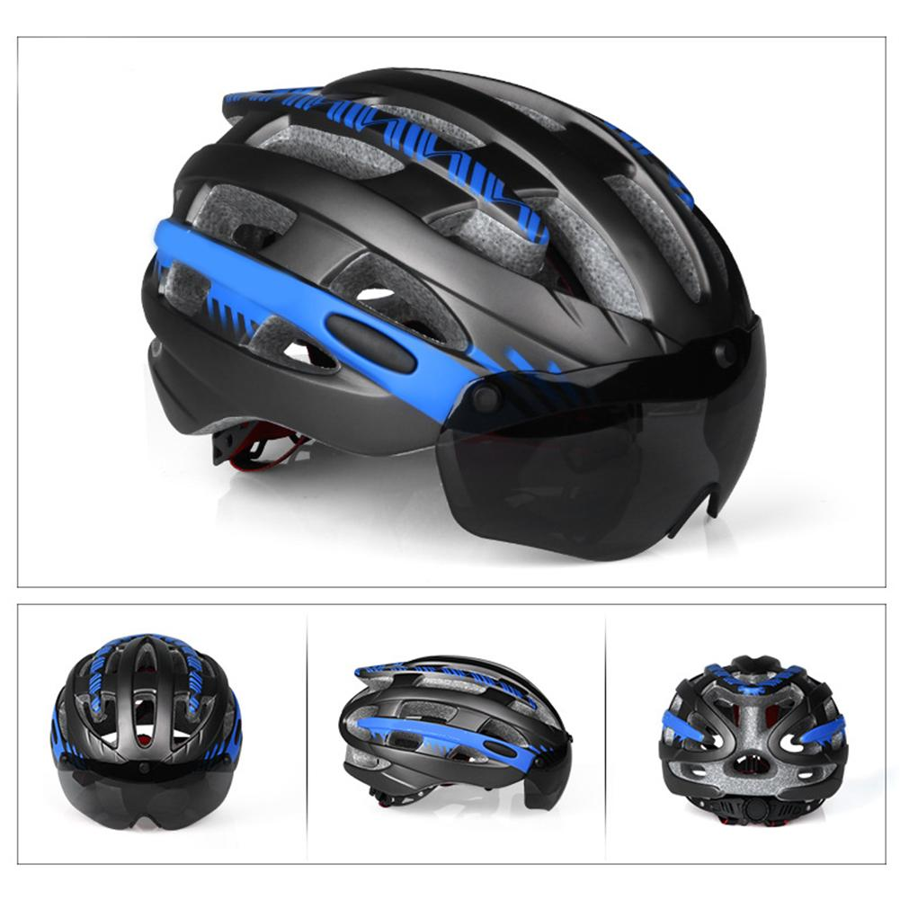 Cheaper Yunmiao Magnetic Sport Helmet Bicycle Mtb Bike Cycling Helmet With Goggles L