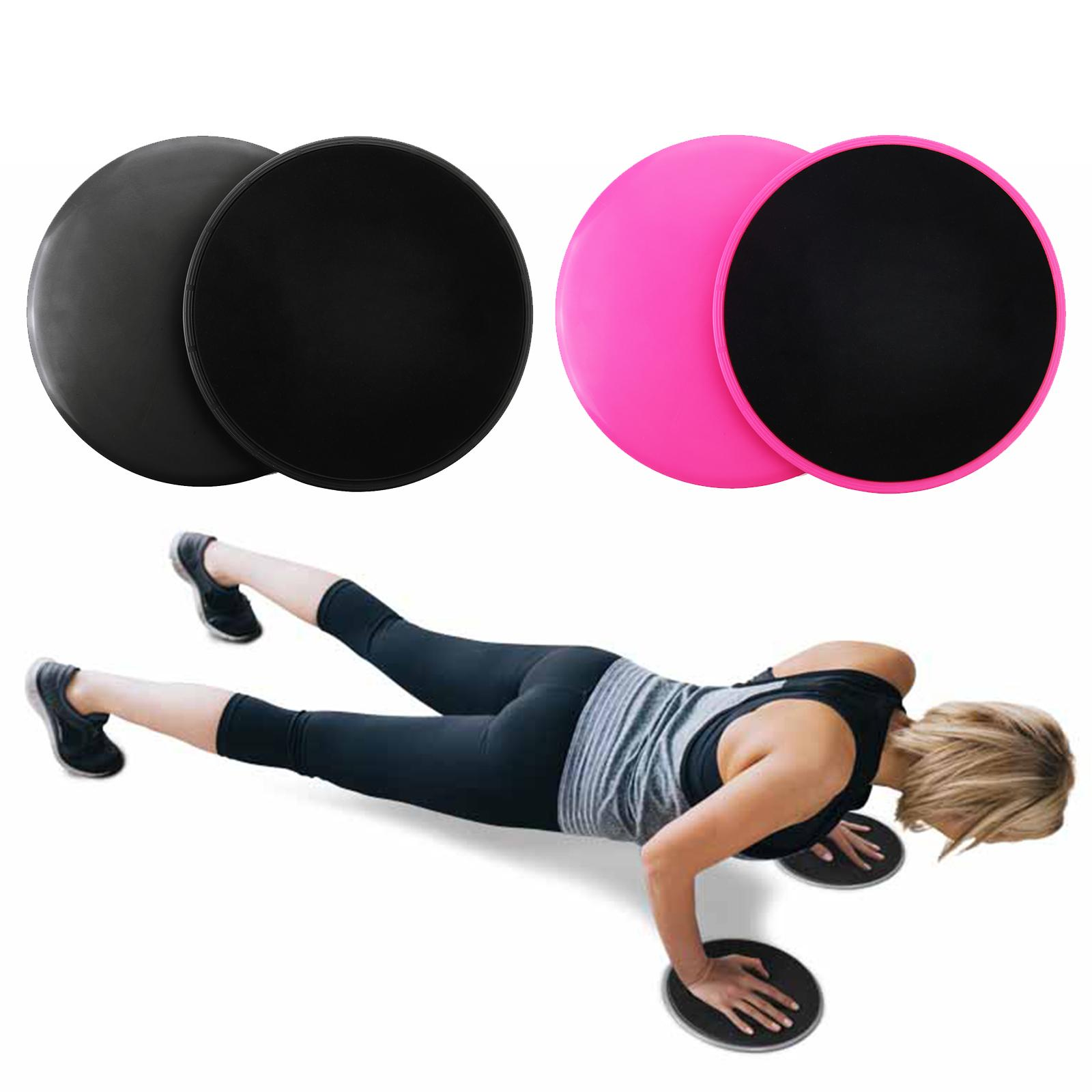 2x Fitness Gliding Discs Core Sliders Dual Sided Home Gym Abs Exercise Workouts