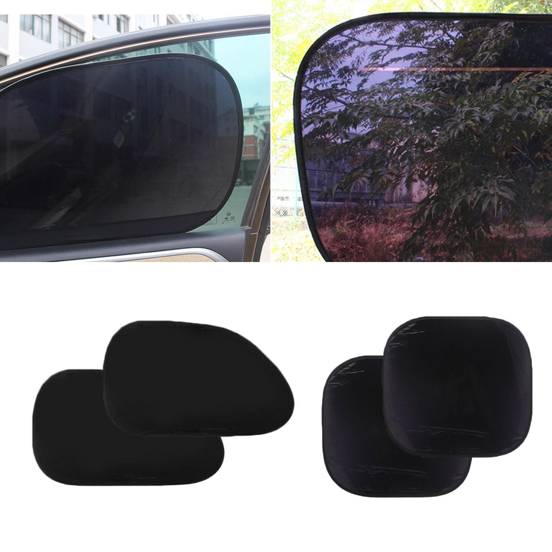 2 Pairs Universal Car Sun Shade Side Windows Sunshade Curtain Car Seat Sun Protection Sunshades For Children Kids Passenger By Elek.