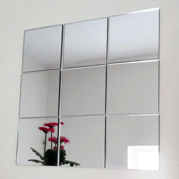 Aluminium Coated Mirror Squares 30cm X 30cm (not Stickers) By Funniezatee.