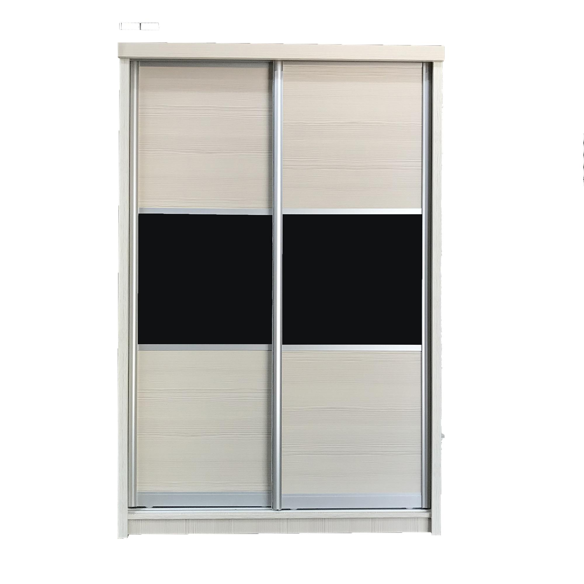 4FT Sliding Plywood Wardrobe with Built-in Mirror