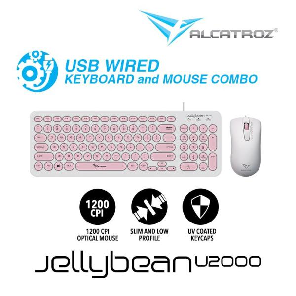 Alcatroz USB Wired keyboard and Mouse Combo JellyBean U2000 Singapore