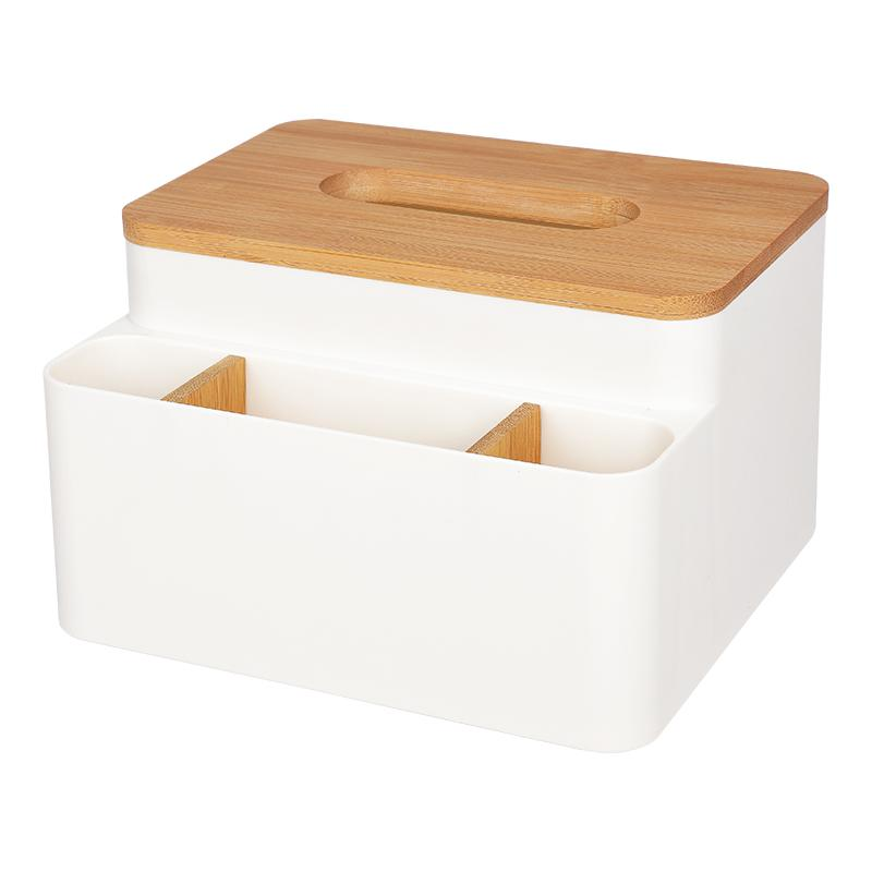Northern European-style Bamboo Wooden Multifuction Storage Box