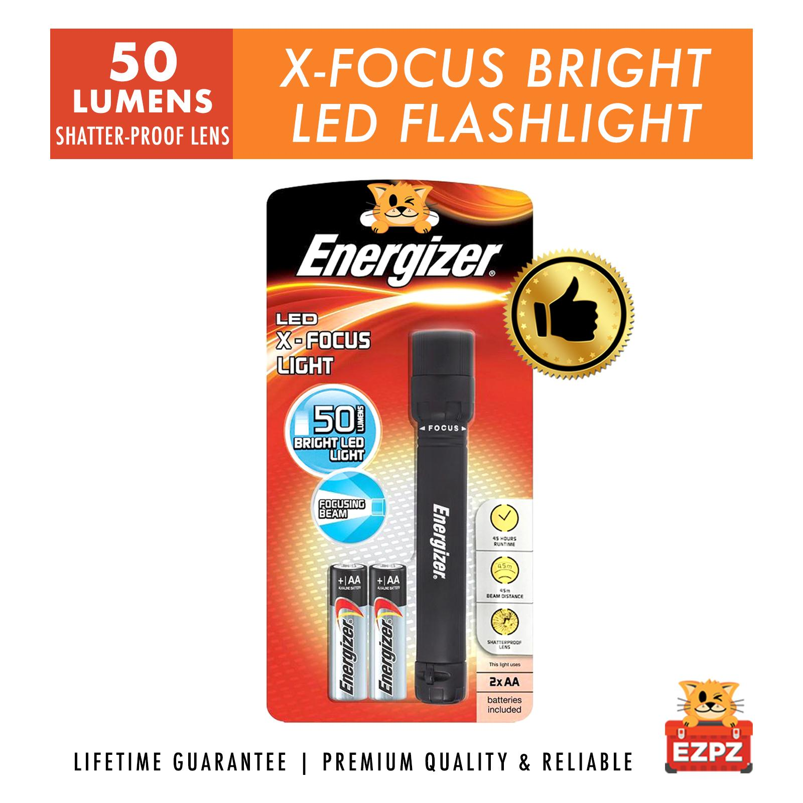 Energizer® XFH21 LED X-Focus Flash Torch Light - Batteries Included