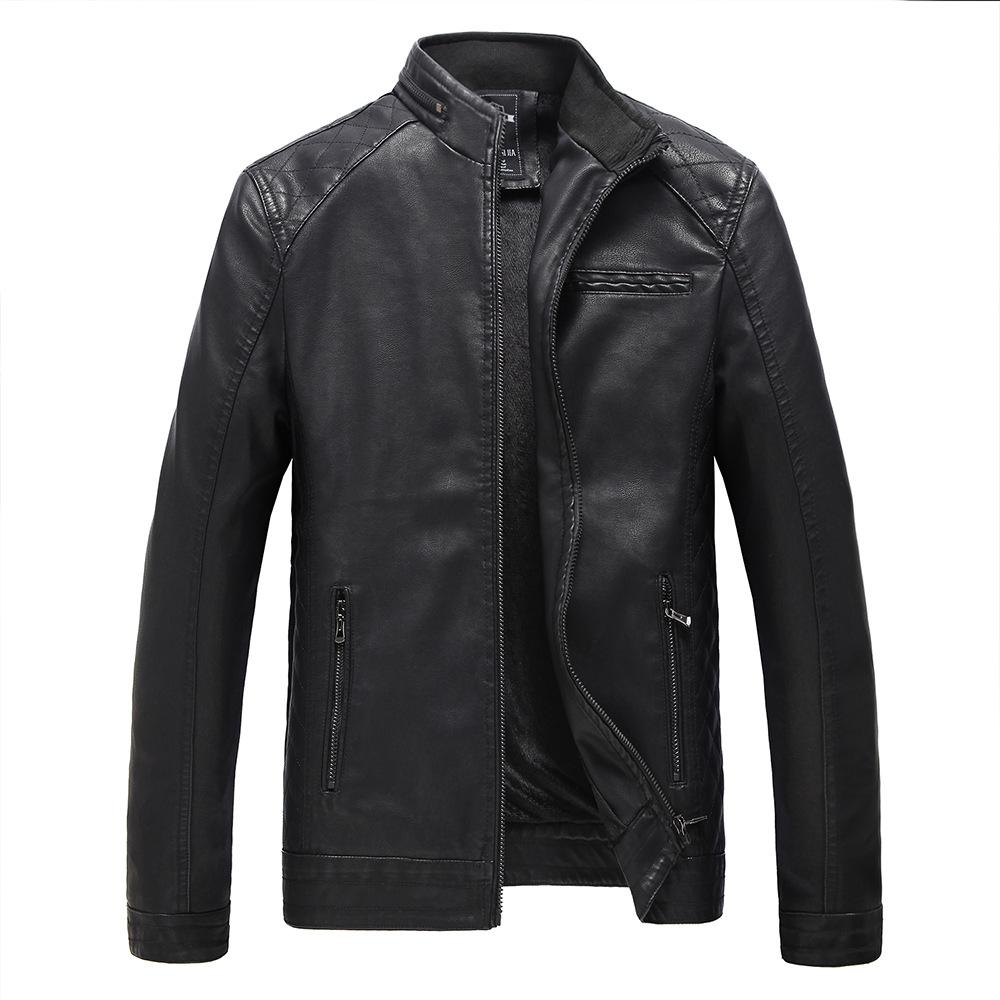 Oto2 Men Leather Man Slim Casual Collar Motorcycle Jacket By Taobao Collection.