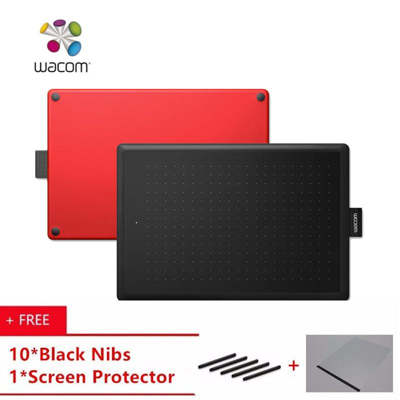 Compare 100 Original One By Wacom Ctl 472 Digital Tablet Graphic Drawing Tablet Pad 2048 Pressure Level Small Size Wacom Ctl 472 Black And Red Buy 1 Get 10Pcs Black Nibs 1Pcs Screen Protector