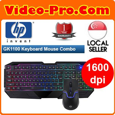 39a1243560e HP GK1100 6-COLOR LED Back Light Gaming Keyboard Mouse Combo 1 Year Local  Warranty