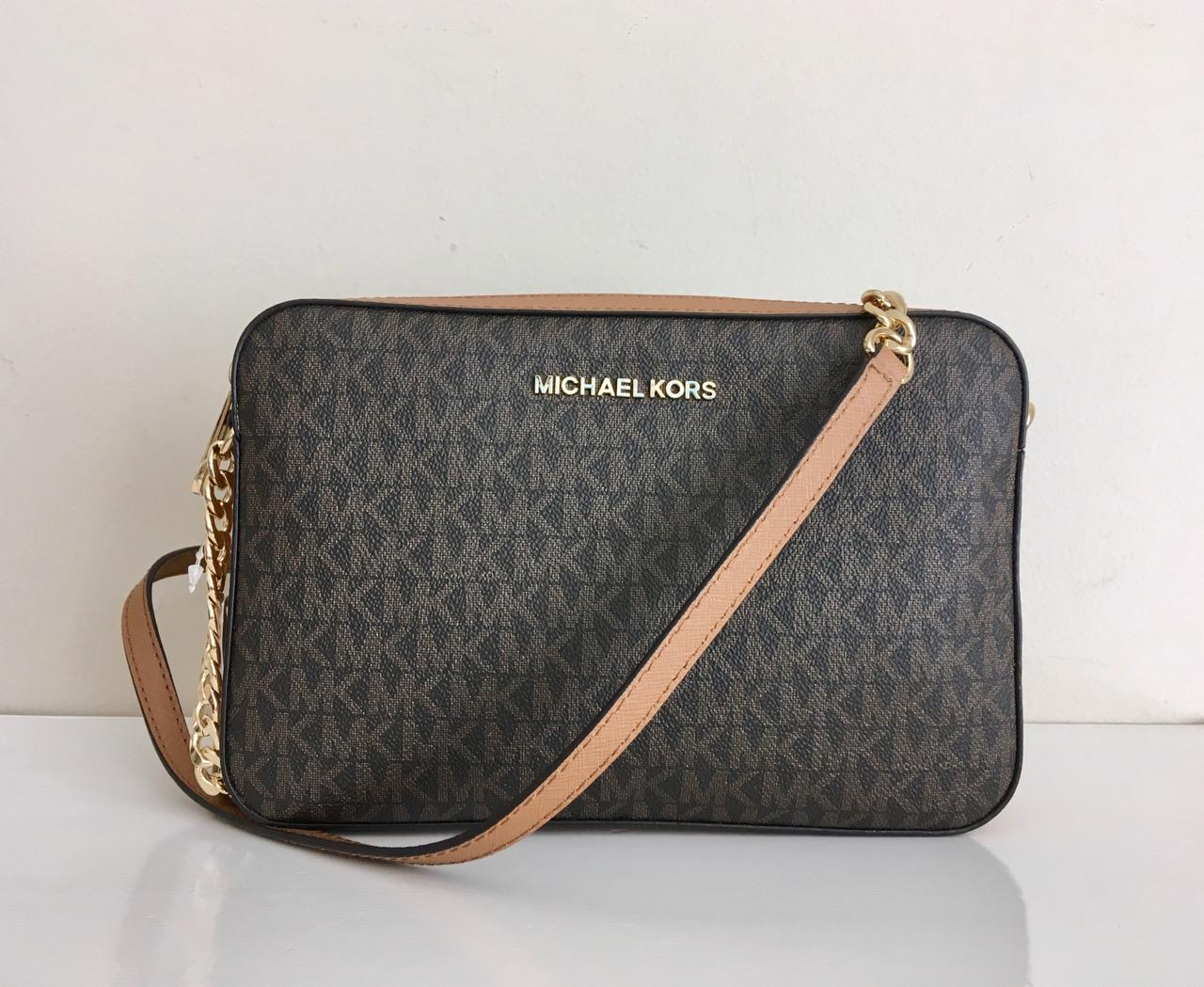 Authentic Michael Kors Jet Set Crossbody Bag  Slingbag MK Signature Bag   35F8STTC3B 3567e2936ac2b