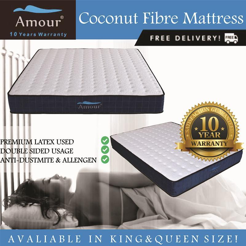 Amour Brand Queen Size and King Size Latex and Coconut Fiber Mattress Best in Lazada