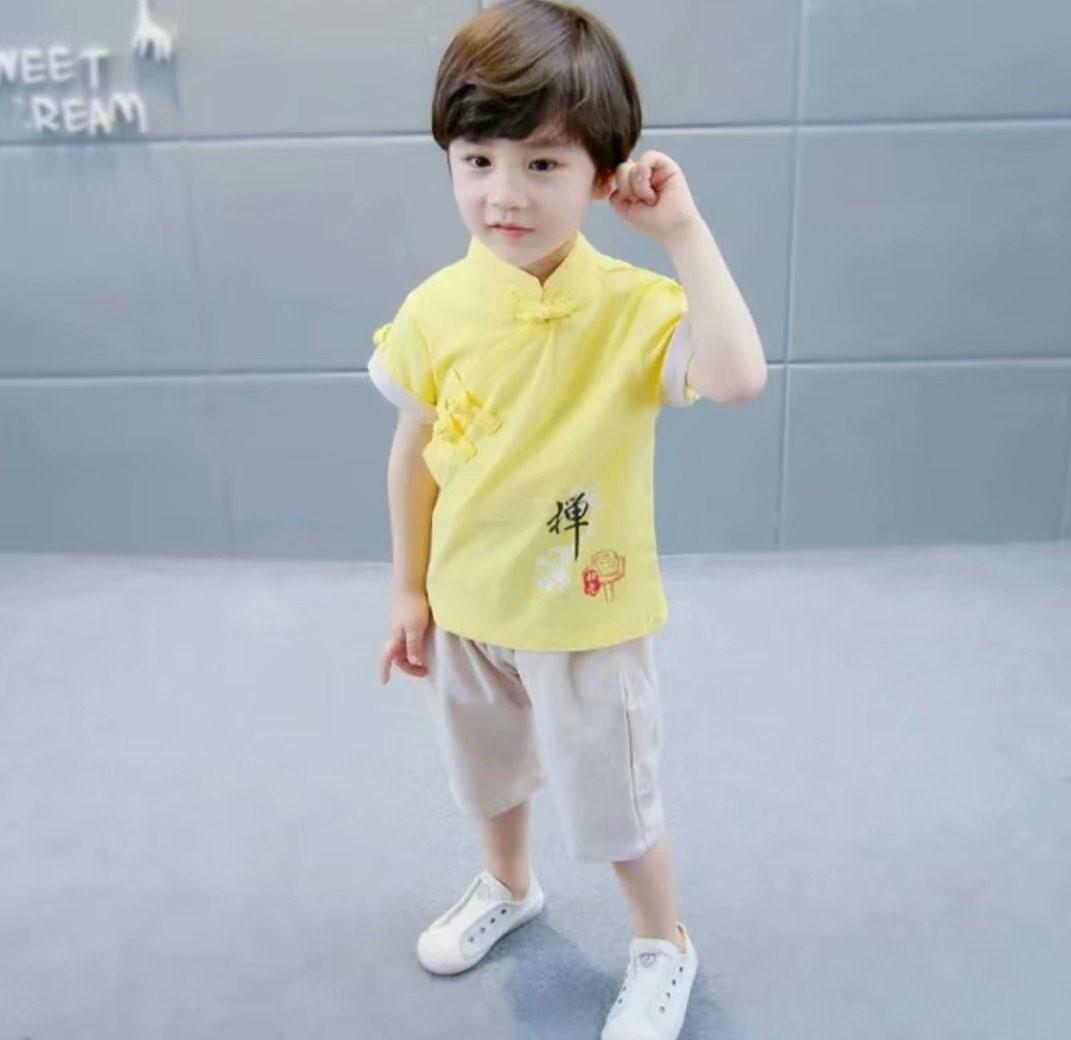 0dea19ff5 kid clothing set traditional Chinese wear Tanzhuang chinese new year wear  Chinese outfit for CNY