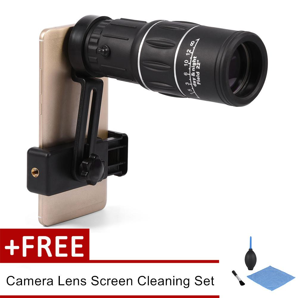 【buy 1 Get 1 Free Gift】sweatbuy 16x Hiking Hd Camera Lens Monocular Telescope Zoom Waterproof Fog Proof With Phone Holder - Intl By Sweatbuy.