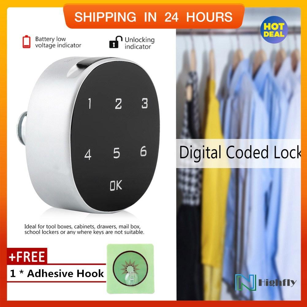 【Free Gift】Digital Zinc Alloy Code Combination Cam Cabinet Convenient  Password Safe Lock