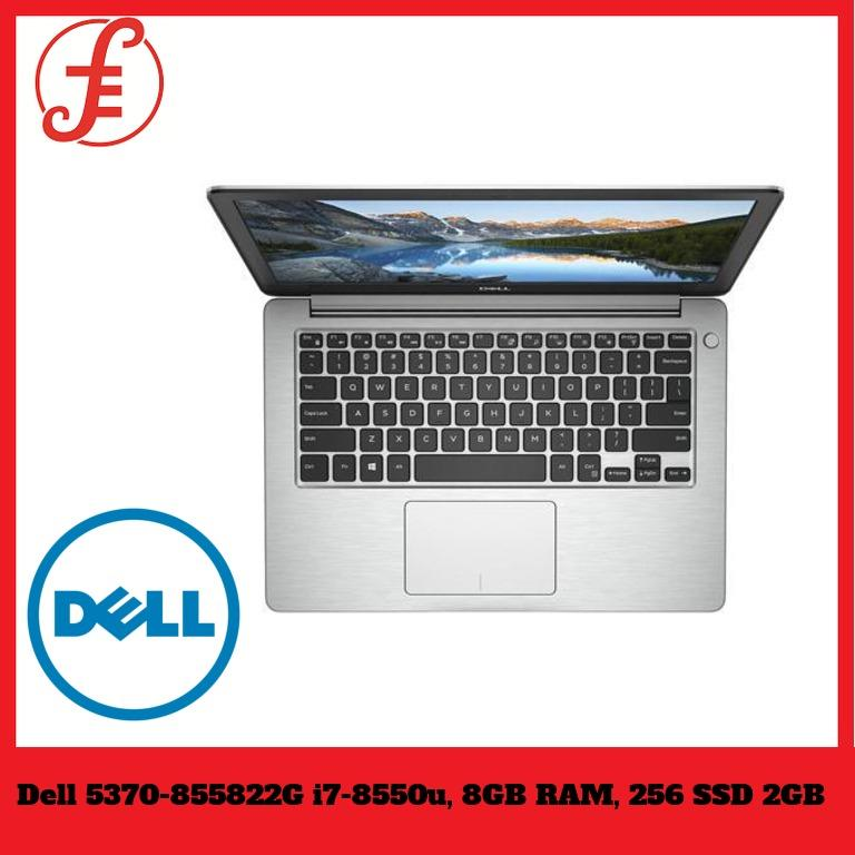 Dell 5370-855822G (Intel i7-8550u, 8GB RAM, 256 SSD 2GB) (Platinum Silver)