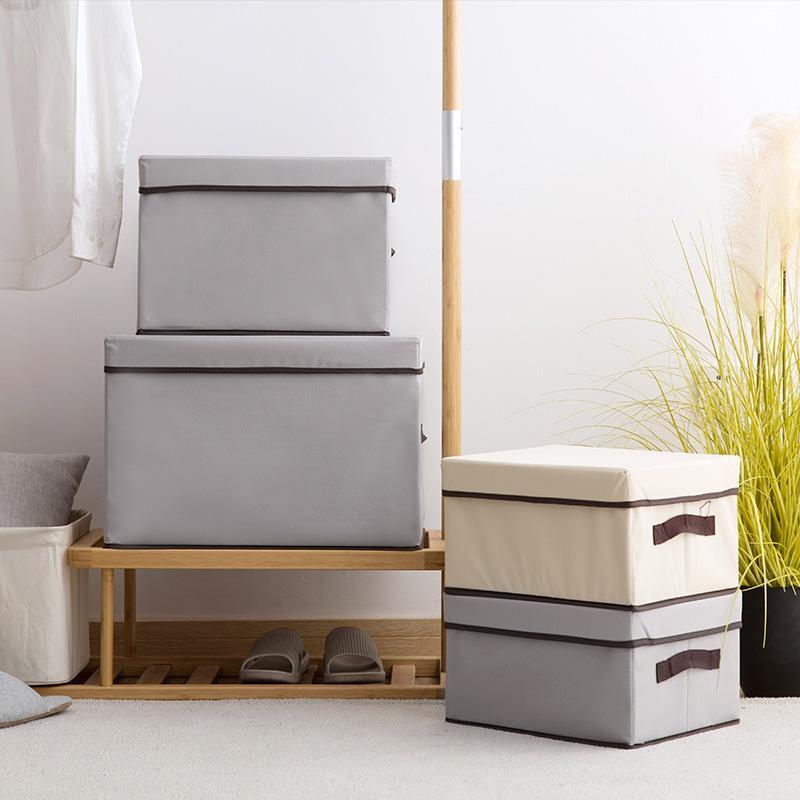 Ju la casa NON-WOVEN Fabric Storage Box with Cap Clothes Finishing Box Large Size Childrens Toy Box Hand Storage Box