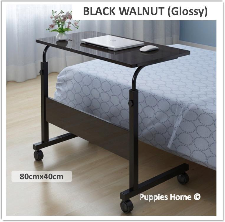 Wheel Laptop Table Study Portable Bed Desk PC Notebook Lazy Wooden Wood Stand Holder Computer Lap Foldable Riser Adjustable Couch Plastic Furniture Organizer