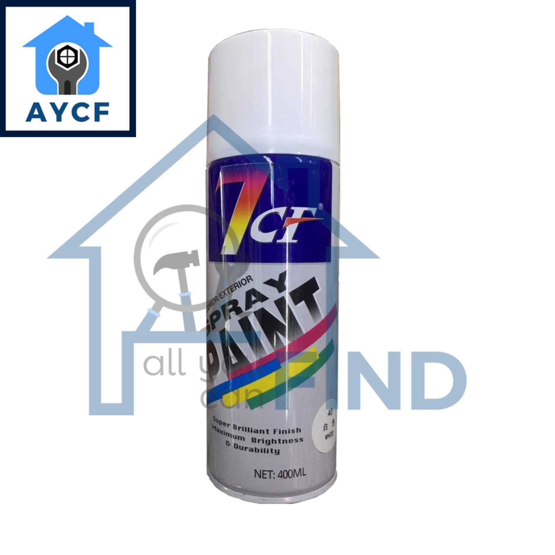7CF Interior / Exterior Spray Paint 400ml -White