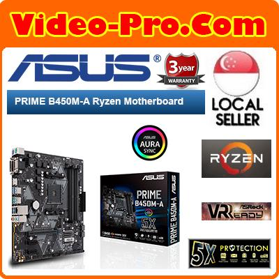 Asus Prime B450M-A Ryzen Motherboard / AMD B450 Chipset / 8-Channel Audio  Output