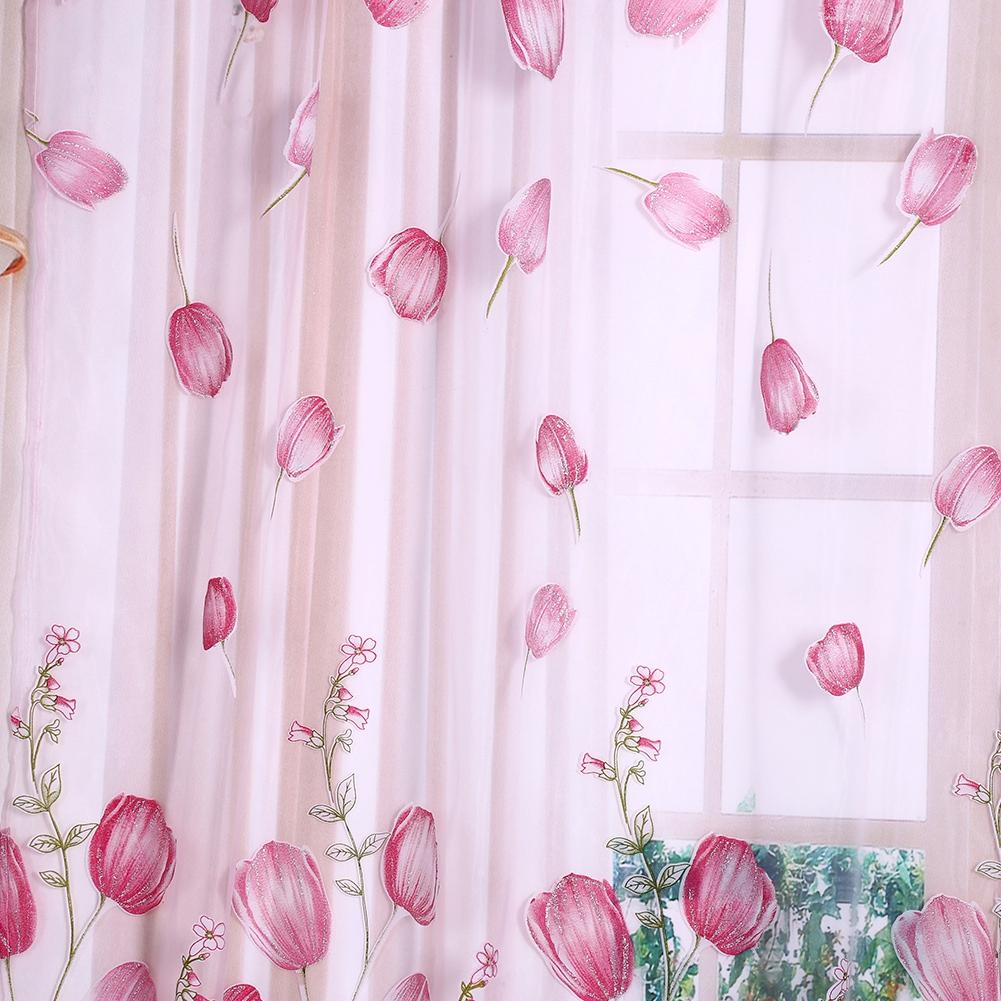 Design of beautiful flower cute printed tulips, this curtain ...