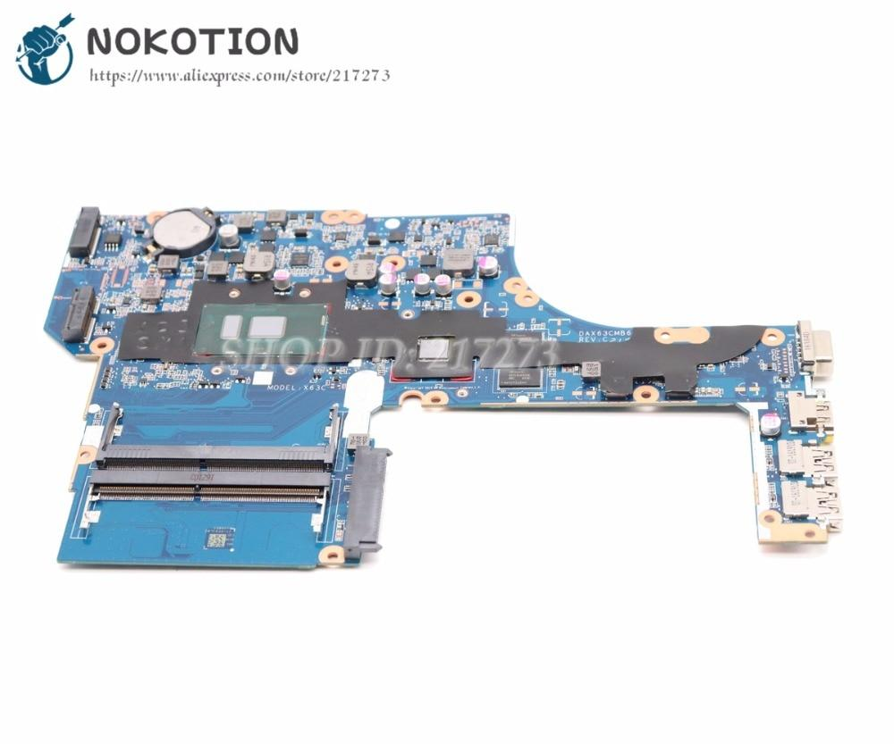 NOKOTION DAX63CMB6C0 855565-601 855565-001 For H P Probook 450 G3 Laptop  Motherboard SR2EZ I7-6500U R7 M340 Video card