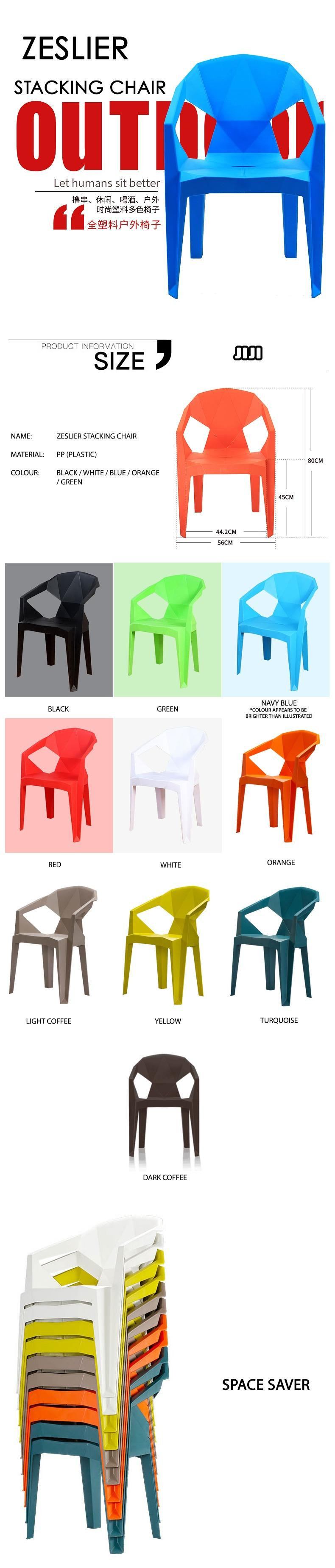 Jiji Zeslier Stacking Chair Stackable Stock In Singapore Furniture Sg