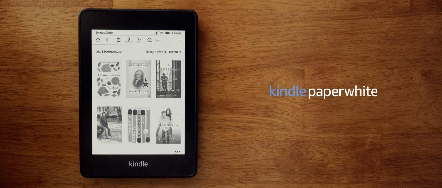 KINDLE Paperwhite 2019 10th Gen + FREE Free Screen Protector 8/32GB ,Wi-Fi  Only, With Special Offers, (Water safe Fabric Magnetic Smart Case options)