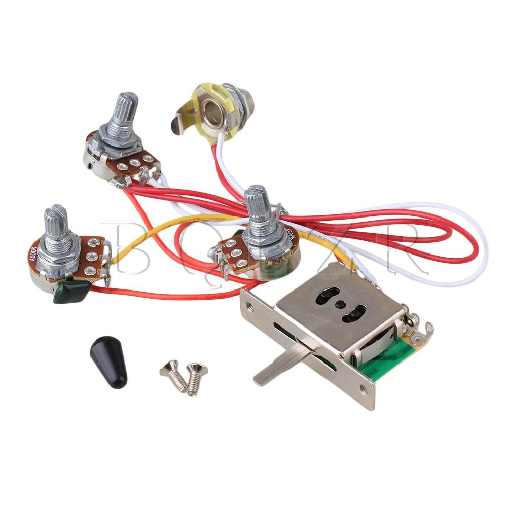 5 Way Switch 500k Pots Knobs Wiring Harness For Guitar Singapore Electric