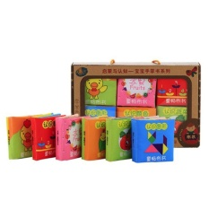 6 Pcs Baby Kids Mini Handy Early Educational Soft Cloth Book Fruit Animal Alphabet Figure Shape Color Book for 0-3 Years Old Kids - intl