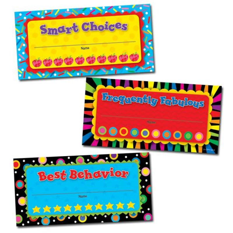 CTP5948 Punch Cards Classroom Management Incentives