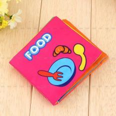 Educational Cloth Book Baby Kids Toddler Intelligence Development Toys Food