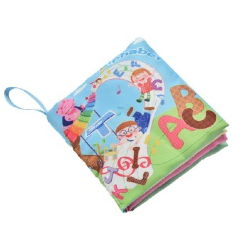 Fabric Books Educational Cloth Book Preschool Training Cartoon Baby Toy Alphabet - Intl