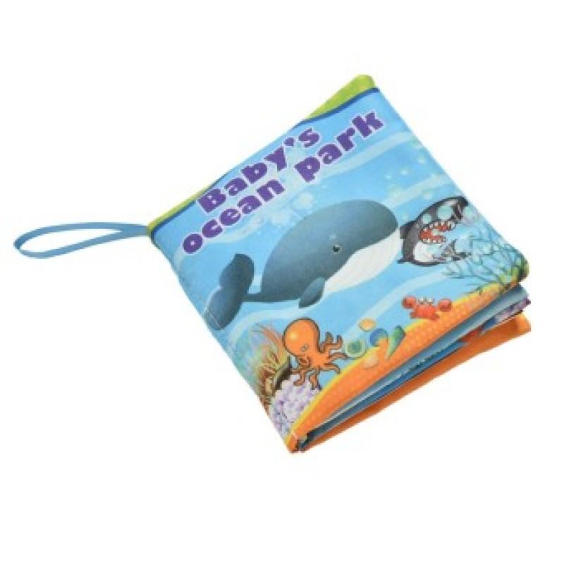 Fabric Books Educational Cloth Book Preschool Training Cartoon Baby Toy Ocean park (EXPORT)