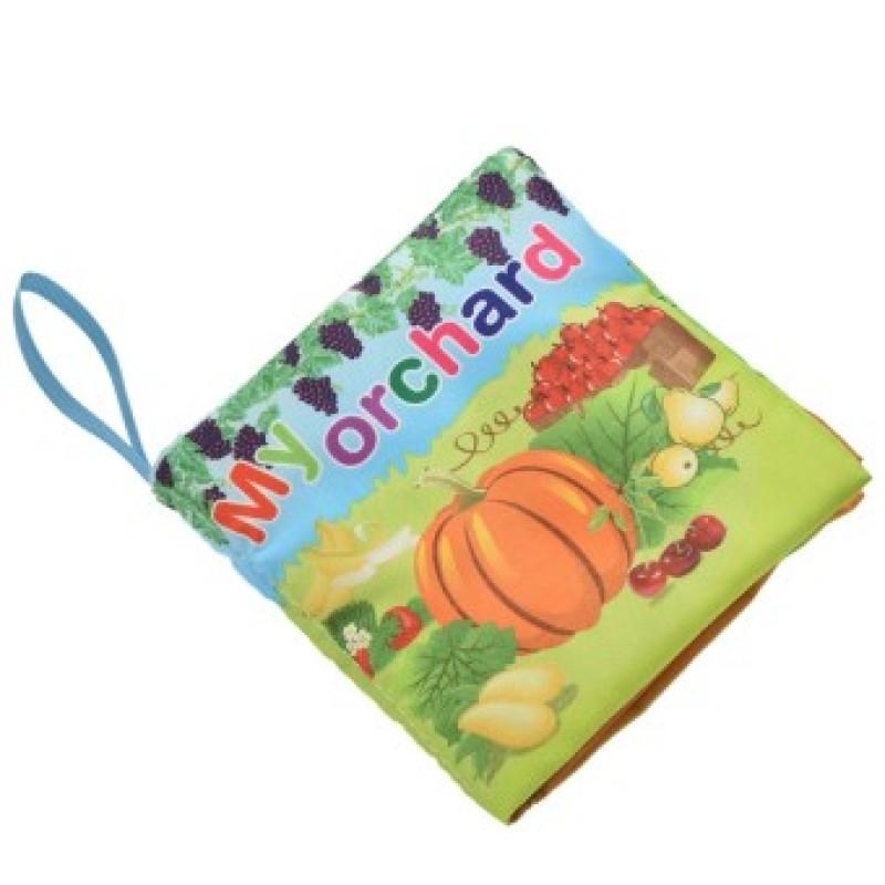 Fabric Books Educational Cloth Book Preschool Training Cartoon Baby Toy Orchard (EXPORT)