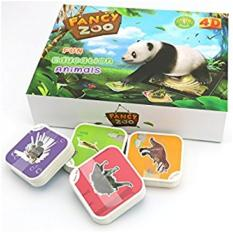 Fancy Zoo Magic 4D Flashcards AR Animal Educational Game, 68 Cards, Activation code.