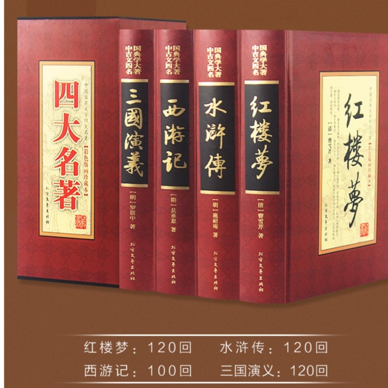 Four masterpieces/Romance of the Three Kingdoms/The Dream of Red Mansion/Water Margin/Journey to the West - intl
